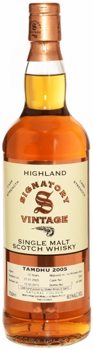 Signatory Tamdhu 10 Year Old Cask Strength Single Malt Whisky 2005