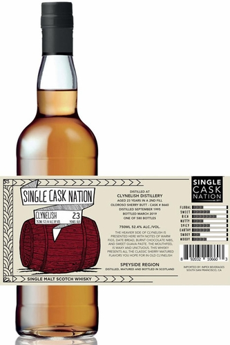 Single Cask Nation Clynelish 23 Year Old Single Malt Scotch 750ML