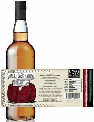 Single Cask Nation Craigellachie 10 Year Old Single Malt Scotch