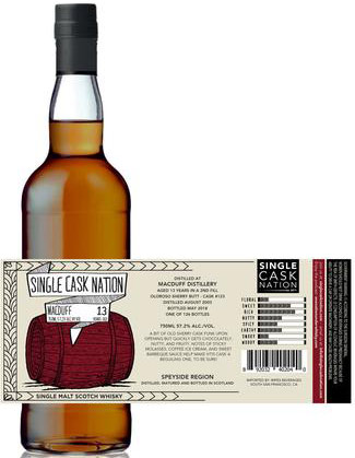 Single Cask Nation MacDuff 13 Year Old Single Malt Scotch 750ML