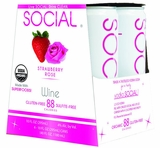 Social Strawberry Rose Sparkling Wine