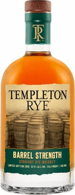 Templeton Barrel Strength Rye Whiskey 750ML