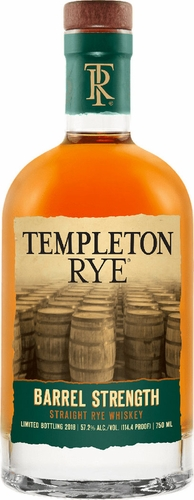 Templeton Barrel Strength Rye Whiskey