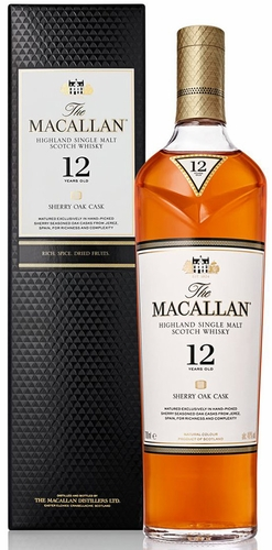 The Macallan Sherry Oak 12 Year Old Single Malt Scotch 750ML