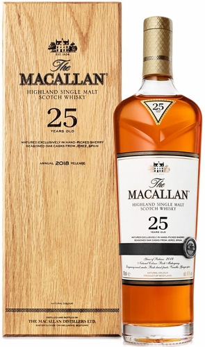 The Macallan Sherry Oak 25 Year Old Single Malt Scotch 750ML