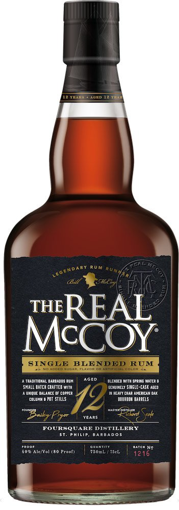 The Real Mccoy 12 Year Old Single Blended Rum 750ML