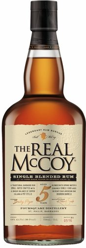The Real Mccoy 5 Year Old Single Blended Rum 750ML