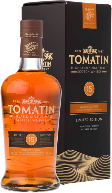 Tomatin 15 Year Old Moscatel Wine Finished Single Malt Scotch