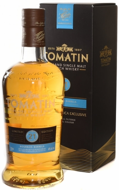 Tomatin 21 Year Old Single Malt Scotch