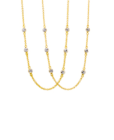 2 Cubic Zirconia Station Necklaces