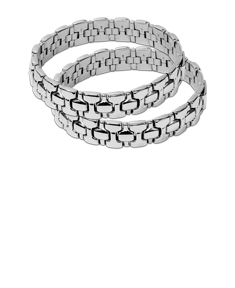 2 Classic Stainless Steel Bracelets