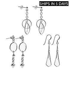 2 Fashionable Sterling Silver Earrings of your Choice