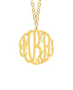 """2"""" Monogram Necklace with 36"""" Link Chain"""