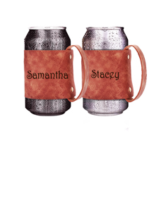 2 Personalized Can Holders