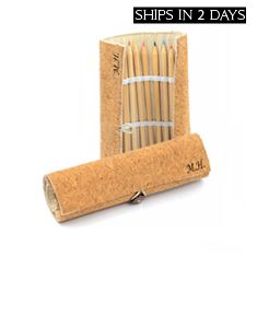 2 Personalized Cork Eco-Friendly Drawing Pencil Sets