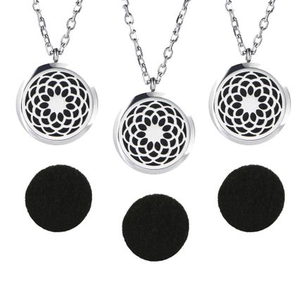 3 Aromatherapy Essential Oil Diffuser Necklaces