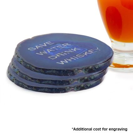 3 Blue Agate Coasters