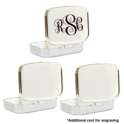 3 Compact Mirror with Case Compartments