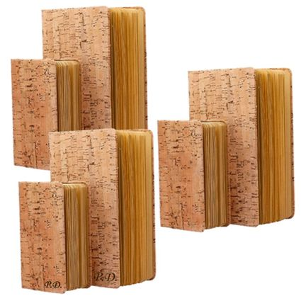 3 Eco Friendly Cork Journal Notebook Sets