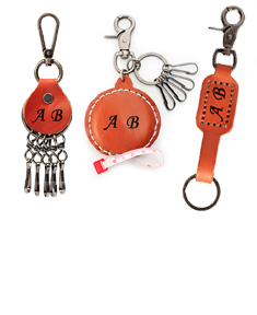 3 Personalized Leather Key Holders