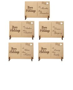 5 Holiday Greeting Postcards