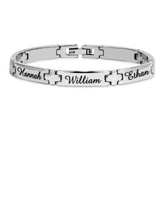 "7"" Engraved Stainless Steel Bracelet"