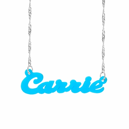 "Acrylic Name Necklace ""Carrie"""