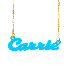 """Acrylic name necklace """"Carrie"""""""