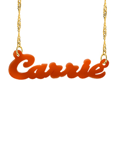 Acrylic name necklace ?Carrie?