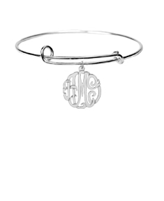 Adjustable Monogram Bangle