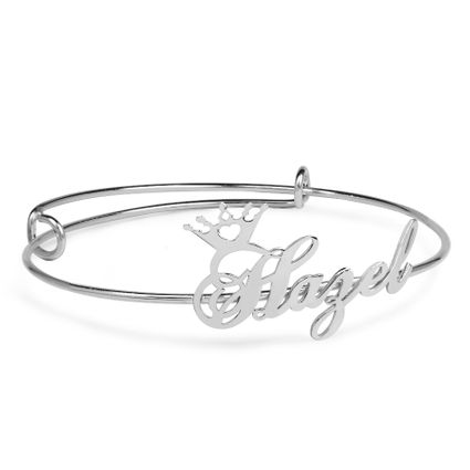 Adjustable Name Crown Bracelet