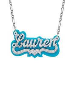 Beaded Name Necklace with Acrylic