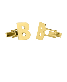 Block Initial Monogram Cufflinks