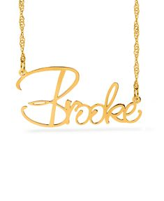 """Brooke Style"" Name Plate Necklace"
