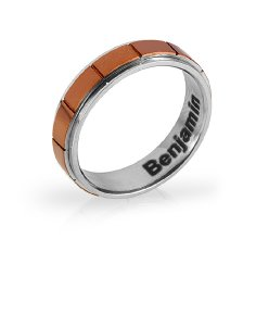 Brown Stainless Steel Spinner Ring