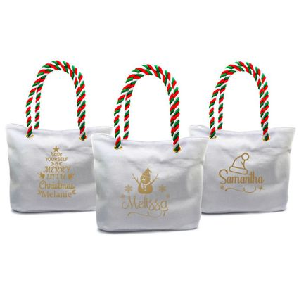 Holiday Canvas Tote Bag