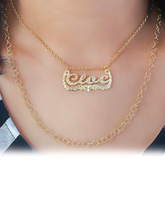 Celebrity Inspired Double Chain Name Necklace