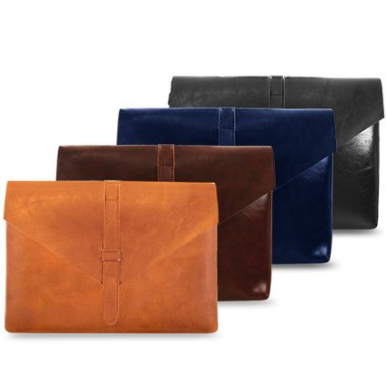 Chic Leather Envelope Clutch