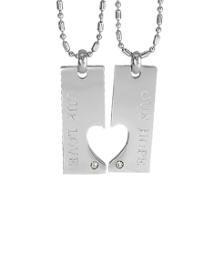 Couple Heart Our Hope Our Love Pendant