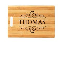 Cutting Board with Family Name
