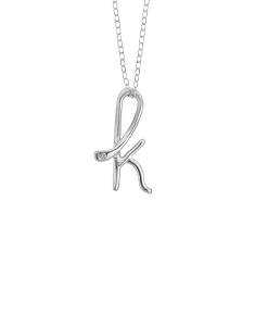 Designer Inspired Initial Pendant Necklace