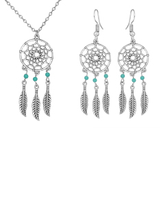 Dream Catcher Earring and Pendant Set