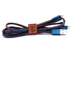 Dual Personalized USB Charging Cable for Android & IPhone
