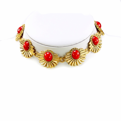 Egyptian Inspired Color Stone Choker