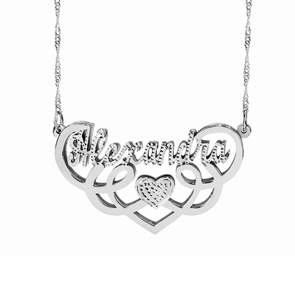 Fancy Double Name Necklace