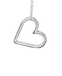Heart Silhouette with Optional Inside Engraving