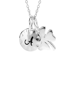 Initial Clover Necklace