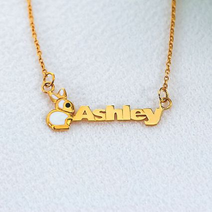 Kid's Name Necklace with Animal Motif