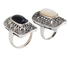 Marcasite Ring With Stone