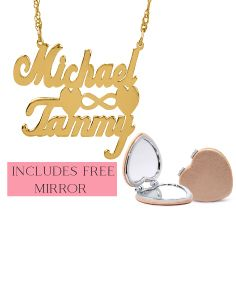 Michael & Tammy Love Necklace with FREE Heart Mirror